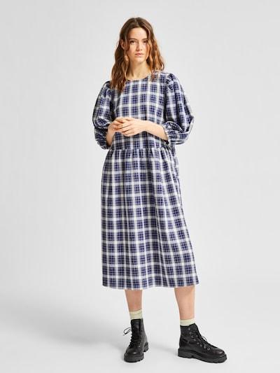 SELECTED FEMME Kleid 'Sandy' in dunkelblau / weiß, Modelansicht