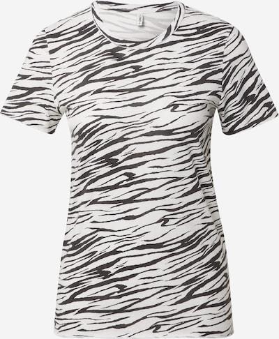 ONLY T-Shirt 'GINA' in schwarz / weiß, Produktansicht