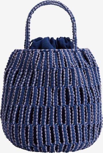 MANGO Sacs à main 'Embolo' en bleu / violet clair, Vue avec produit