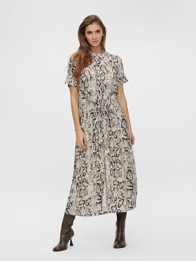 OBJECT Shirt Dress 'Bay Nibia' in Beige / Cream / Black, View model