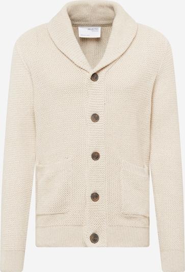 SELECTED HOMME Gebreid vest 'RICHARD' in de kleur Crème, Productweergave