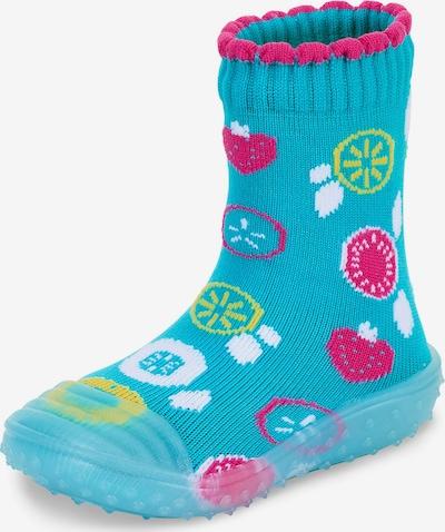 STERNTALER Mājas apavi tirkīza / citronkrāsas / tumši rozā / balts, Preces skats