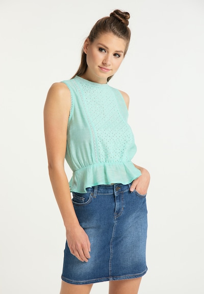 MYMO Blouse in Jade, View model