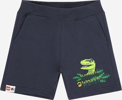 LEGO WEAR Pantalon en jaune / jaune fluo / gris foncé / vert gazon / vert foncé, Vue avec produit