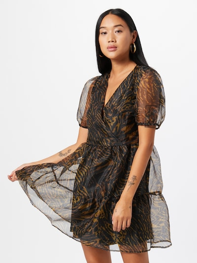 VILA Šaty - tmavohnedá / čierna, Model/-ka