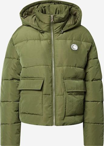 ABOUT YOU x INNA Kurtka zimowa 'Malin' w kolorze zielony