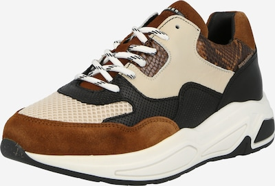 Sneaker low BULLBOXER pe crem / castaniu / maro coniac / negru, Vizualizare produs