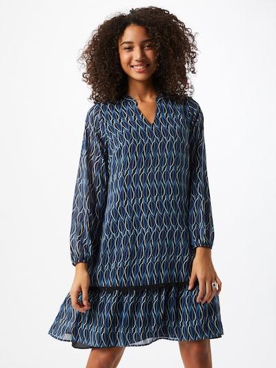COMMA Kleid in blau / saphir / schwarz / weiß, Modelansicht