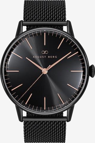 August Berg Analog Watch 'Serenity Noir Black Black 40mm' in Black