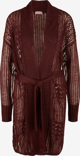 TRIANGLE Gebreid vest in de kleur Bourgogne, Productweergave