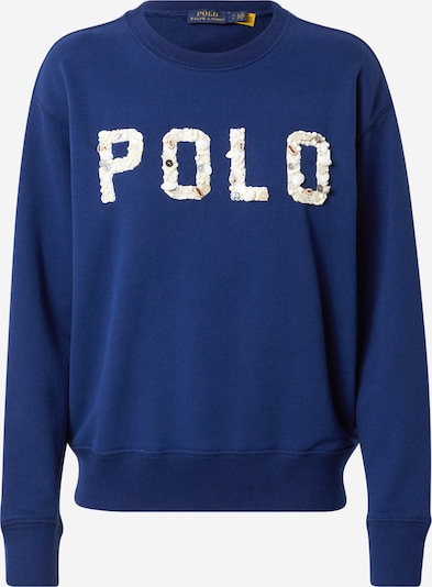 POLO RALPH LAUREN Sweatshirt 'SHELL' in de kleur Beige / Navy, Productweergave