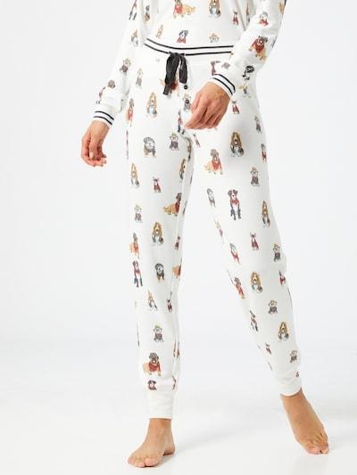 PJ Salvage Pyjamabroek in de kleur Gemengde kleuren / Offwhite: Vooraanzicht