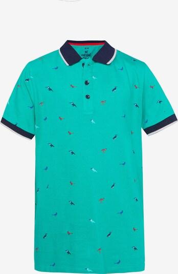 WE Fashion Poloshirt in marine / aqua, Produktansicht