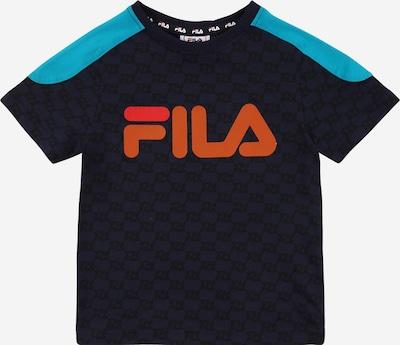 Tricou 'ELIA' FILA pe turcoaz / albastru noapte / somon / portocaliu deschis / negru, Vizualizare produs