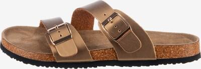 Lynfield Pantolette in braun / gold, Produktansicht
