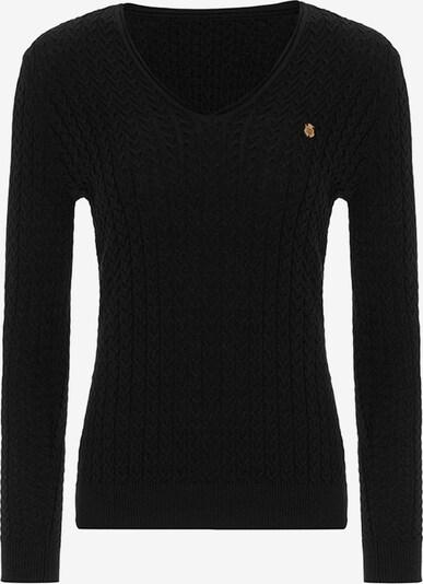 Jimmy Sanders Pullover mit V-Ausschnitt in schwarz, Produktansicht
