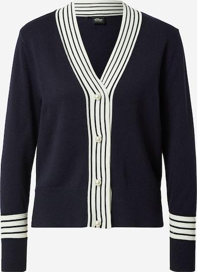 s.Oliver BLACK LABEL Knit cardigan in Navy / White, Item view