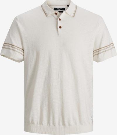 JACK & JONES Shirt 'Oliver' in de kleur Bruin / Wit, Productweergave
