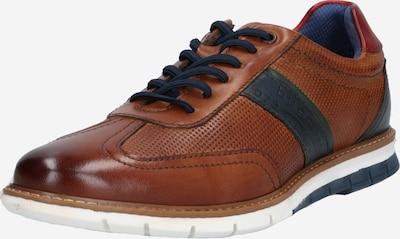 éjkék / barna bugatti Fűzős cipő, Termék nézet