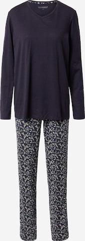 SCHIESSER Pajama in Blue