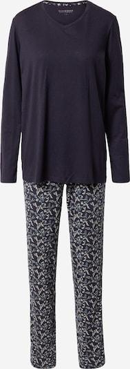 SCHIESSER Pyjama in beige / hellblau / dunkelblau, Produktansicht
