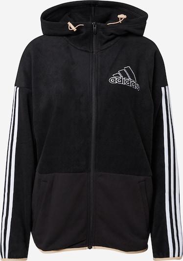 ADIDAS PERFORMANCE Athletic Zip-Up Hoodie in Black / White, Item view