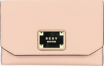 DKNY Geldbörse Leder 13 cm in Beige
