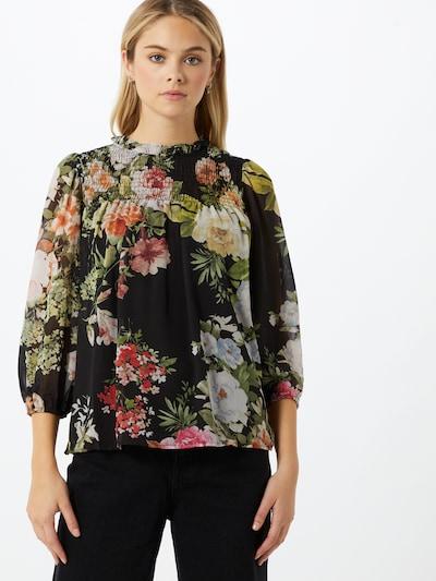 VERO MODA Bluse 'Reana' in grün / pink / schwarz, Modelansicht