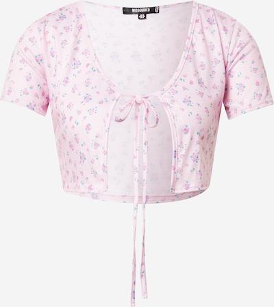 Missguided T-Krekls 'DITSY', krāsa - nefrīta / rozā / gaiši rozā, Preces skats