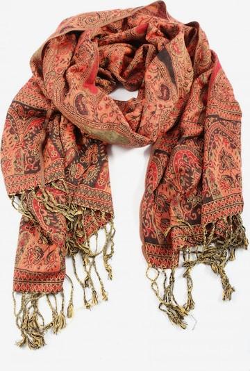 Pashmina Seidenschal in One Size in braun / rot, Produktansicht