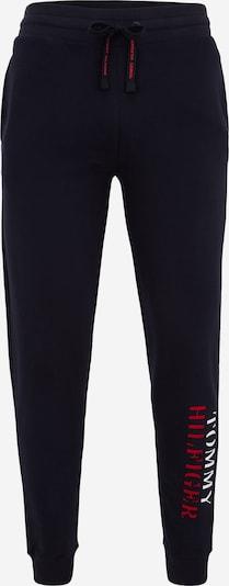 Pantaloni TOMMY HILFIGER pe albastru noapte / roșu / alb, Vizualizare produs