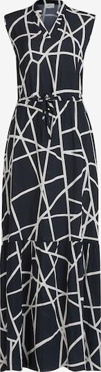 Cartoon Casual-Kleid mit Stehkragen in schwarz / weiß, Produktansicht