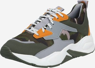 TIMBERLAND Sneaker 'Delphiville' in grau / dunkelgrün / orange, Produktansicht