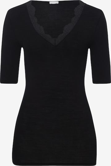 Hanro Onderhemd ' Woolen Lace ' in de kleur Zwart, Productweergave