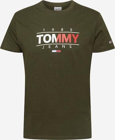 Tommy Jeans T-Shirt en kaki / melon / blanc, Vue avec produit