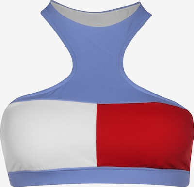 Tommy Hilfiger Underwear Bikinitop in de kleur Lichtblauw / Rood / Wit, Productweergave