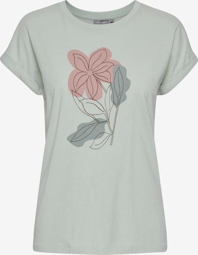 Fransa Shirt mit floralem Print in hellgrün, Produktansicht