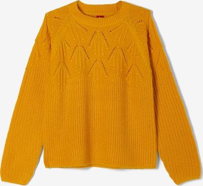 s.Oliver Pullover mit filigranem Ajourmuster in gelb, Produktansicht