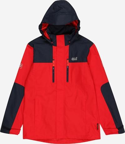 JACK WOLFSKIN Chaqueta de montaña 'JASPER' en navy / rojo claro, Vista del producto