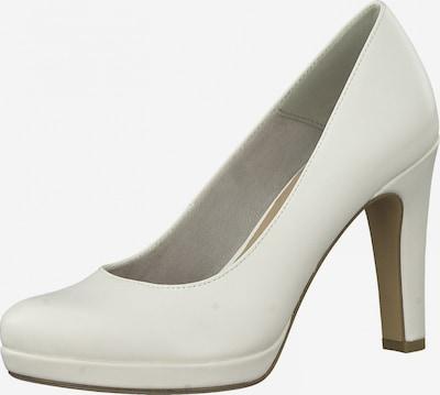 TAMARIS Čevlji s peto | bela barva, Prikaz izdelka