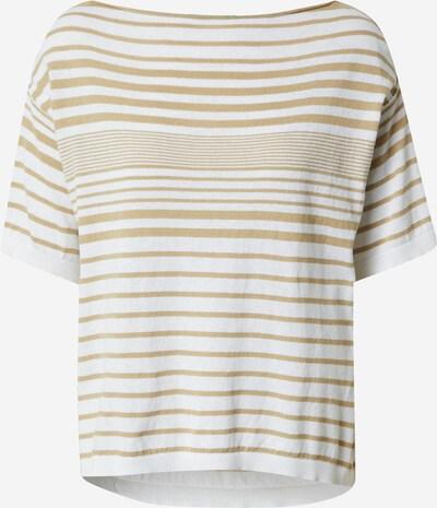 UNITED COLORS OF BENETTON Trui in de kleur Lichtbruin / Wit, Productweergave