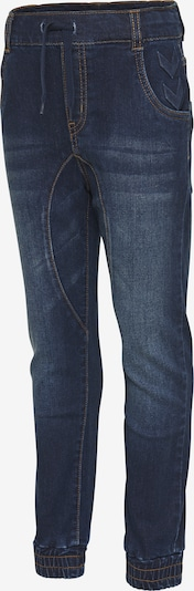 Hummel Pants in blue denim / braun: Frontalansicht
