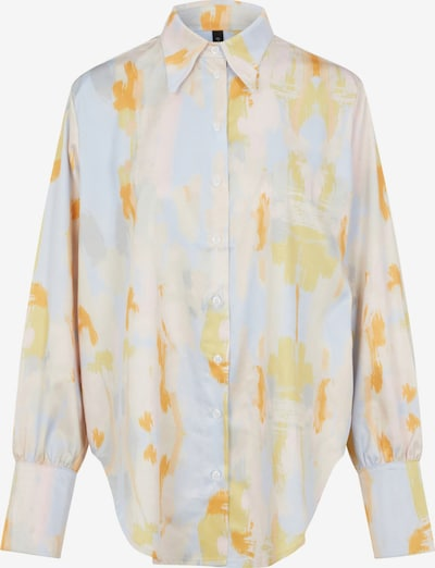 Y.A.S Bluse 'Pastila' in kitt / hellblau / gelb / orange / rosa, Produktansicht