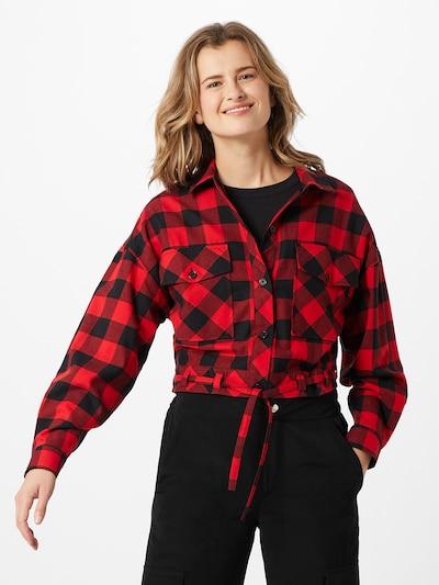 Urban Classics Hemdbluse in rot / schwarz, Modelansicht