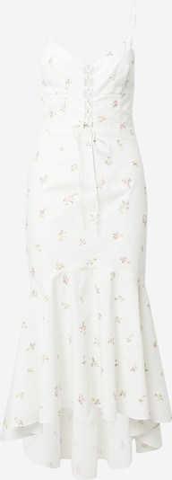 True Decadence Robe en jaune / vert / rose / blanc, Vue avec produit