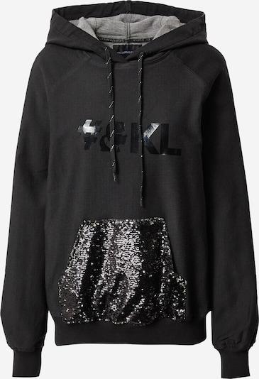 Felpa Karl Lagerfeld Denim di colore grigio sfumato / nero denim / argento, Visualizzazione prodotti
