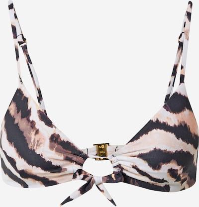 Top per bikini 'ZANO NELBA' Banana Moon di colore marrone / cognac / nero / bianco, Visualizzazione prodotti
