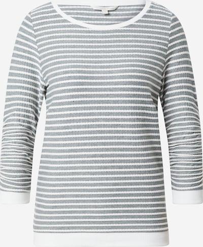 TOM TAILOR DENIM Sweatshirt in grün / weiß, Produktansicht