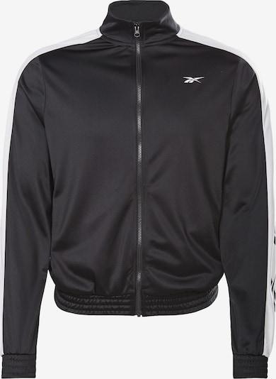 Reebok Sport Športová bunda - čierna / biela, Produkt