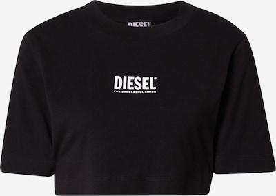 DIESEL Тениска в черно / бяло: Изглед отпред